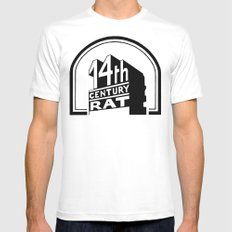 FOURTEENTH CENTURY-RAT Mens Fitted Tee White SMALL