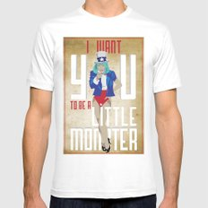 For The Monsters Mens Fitted Tee SMALL White
