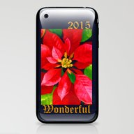 Christmas Poinsettia iPhone & iPod Skin