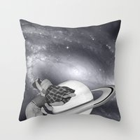 FLY ME TO THE SATURN Throw Pillow