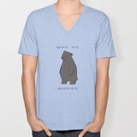 Bears Are Awesome  Unisex V-Neck