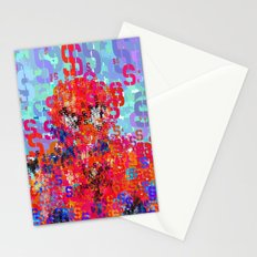 Spider Type Man - Abstract Pop Art Comic Stationery Cards