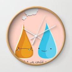 Water and Fire- A Tragic Love Affair Wall Clock