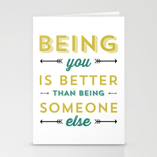 BEING YOU 2 Stationery Card