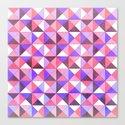 Purple/Pink : Pattern Canvas Print