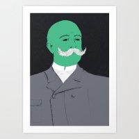 Stache man Art Print