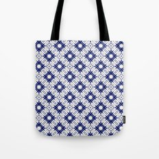 Watercolor Shibori Blue Tote Bag