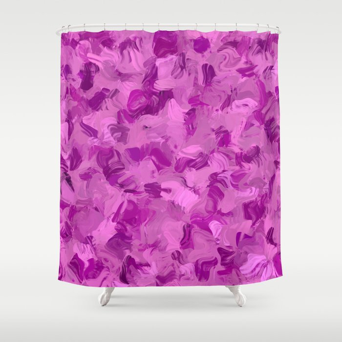 pink camouflage shower curtain by mehrfarbeimleben society6