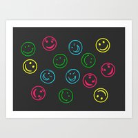 Happy Faces Art Print
