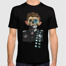 War Collage 2 Mens Fitted Tee Black SMALL