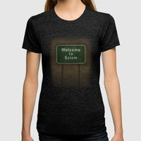 Welcome To Salem Womens Fitted Tee Tri-Black SMALL