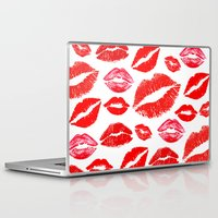 lips Laptop & iPad Skins featuring Lips by deff