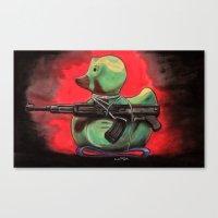 Camo Duck Canvas Print