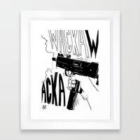 Wacka Wacka Framed Art Print