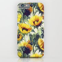 yellow iPhone & iPod Cases featuring Sunflowers Forever by micklyn