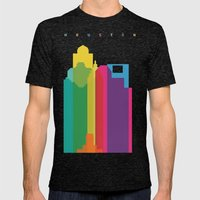 Shapes Of Houston. Accur… Mens Fitted Tee Tri-Black SMALL