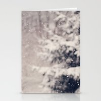 Softly Fallen Snow Stationery Cards