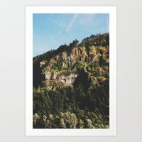 Oregon falls Art Print