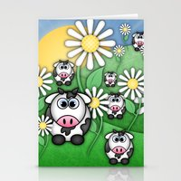 Cows & Daisies  Stationery Cards