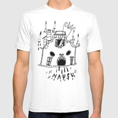 hausu Mens Fitted Tee White SMALL