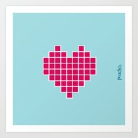 Pixelated Heart Art Print