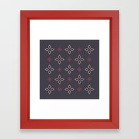 Abstract Floral Shapes Framed Art Print