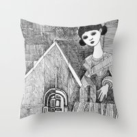 Girl On The Top Of Her H… Throw Pillow