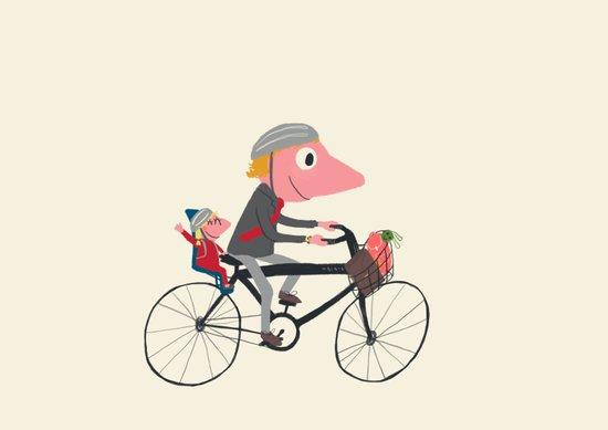 Biker Daddy Art Print