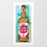 Lone Star Beer Art Print