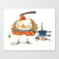 Halloween is here Canvas Print