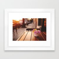 Flowers In The Street Framed Art Print