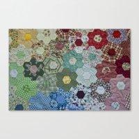 patchwork-design Canvas Print