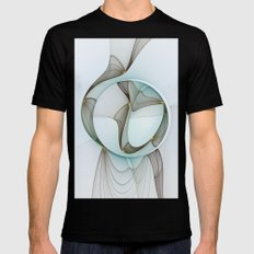 Abstract Elegance Mens Fitted Tee Black SMALL