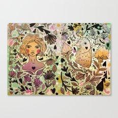 Bird Girl Canvas Print