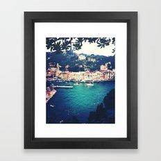 A vintage day in Portofino Framed Art Print