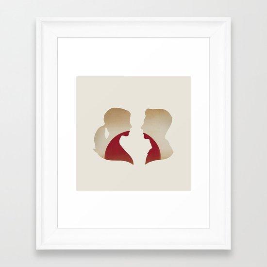 Love & the Setting Sun Framed Art Print