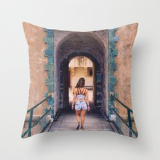 Saint Tropez Castle Throw Pillow