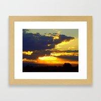 Sunset Splendor Framed Art Print