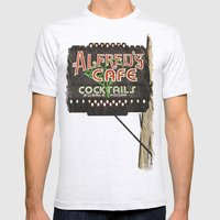 Alfred's Cafe Mens Fitted Tee Ash Grey SMALL