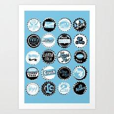 ALL CAPS Art Print