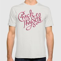 Check Thyself Mens Fitted Tee Silver SMALL