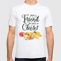 What a Friend We Have in Cheeses Mens Fitted Tee Ash Grey SMALL