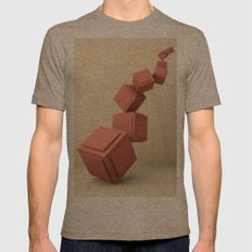 Gravity Mens Fitted Tee Tri-Coffee SMALL