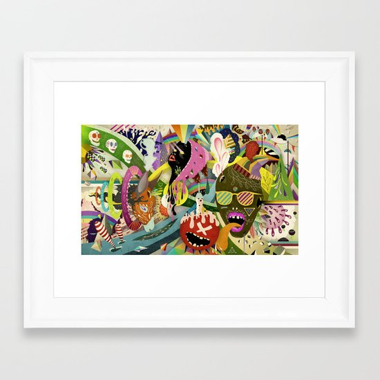 The Circus #01 Framed Art Print