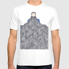 SuperBeard SMALL White Mens Fitted Tee