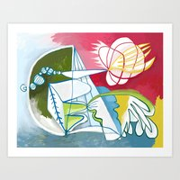 Abstract Painting 7745 Art Print
