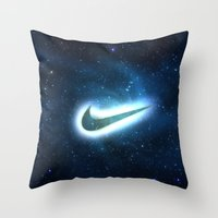 Nike-galaxy Throw Pillow
