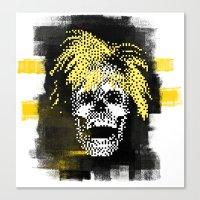 Andy POSTportrait Canvas Print