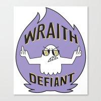 Wraith Defiant decal Canvas Print
