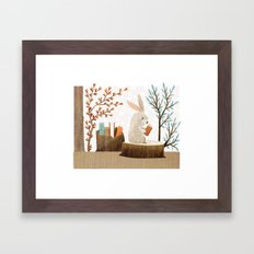 The Bookish Forest: Bunny Framed Art Print